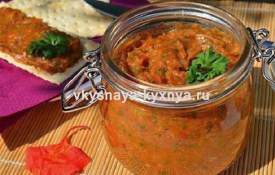 Кабачково-баклажанная икра: рецепт на зиму