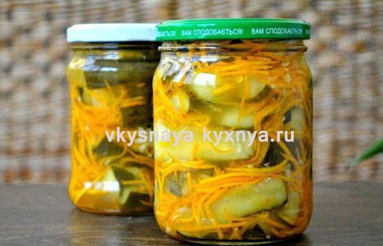 рецепт салата из огурцов и моркови по корейски