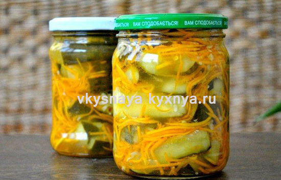 Огурцы морковью по-корейски: салат