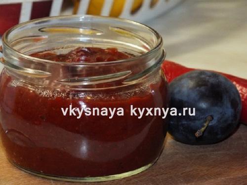 Сливовый соус к мясу: рецепт на зиму