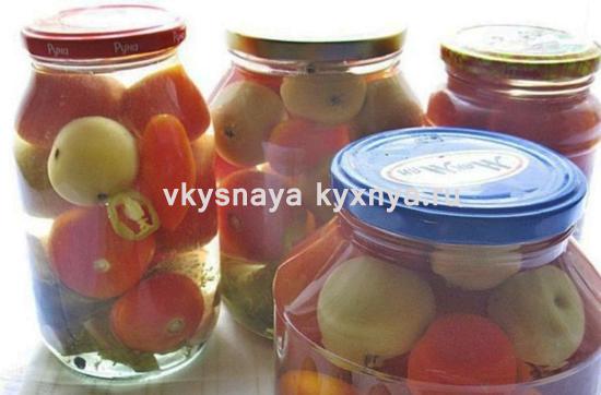 Маринованные помидоры на зиму с яблоками