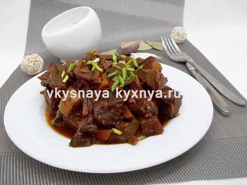 Азу по-татарски из свинины