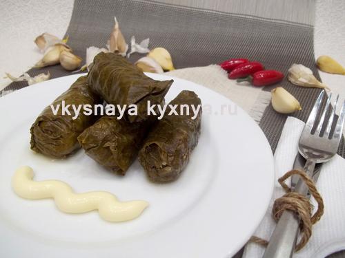 Как приготовить долму из виноградных листьев, рецепт с пошаговым фото