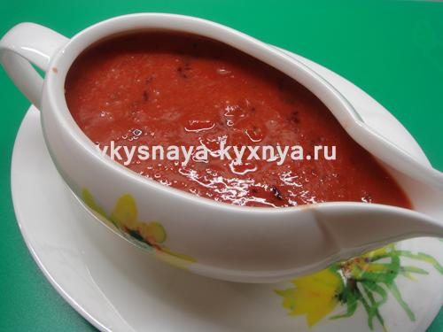 Нежный сливовый соус к мясу в мультиварке