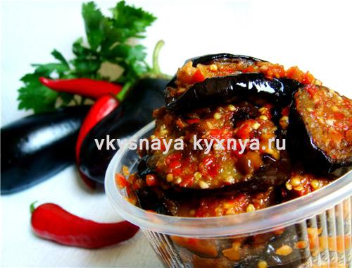 Жареные баклажаны в аджике: острая закуска на зиму
