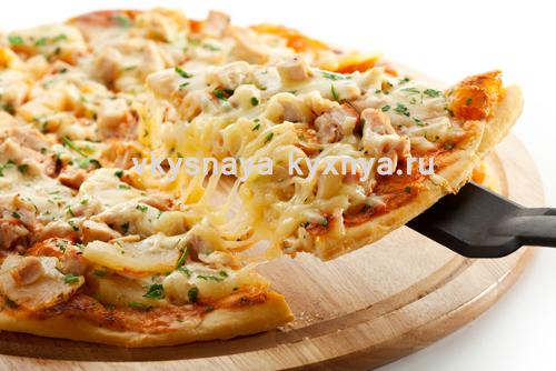 пицца по-гавайски с ананасами рецепт