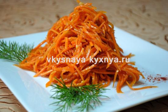 Морковь по-корейски в домашних условиях: быстрый рецепт