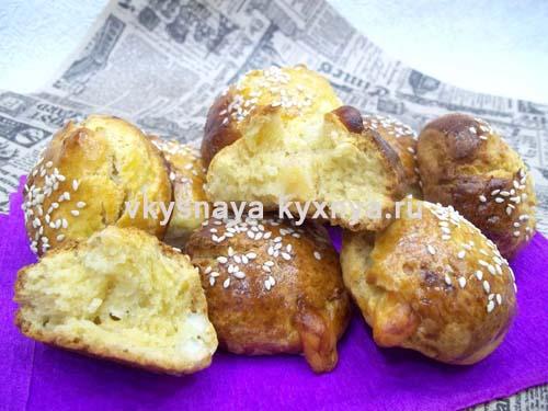 Погача: турецкие сырные булочки с кунжутом
