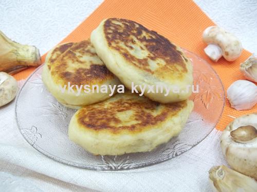 Картофельные котлеты с грибами: рецепт с фото пошагово