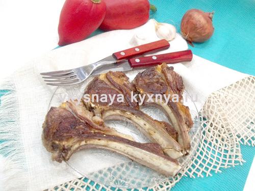 Бараньи ребрышки на сковороде рецепт пошагово