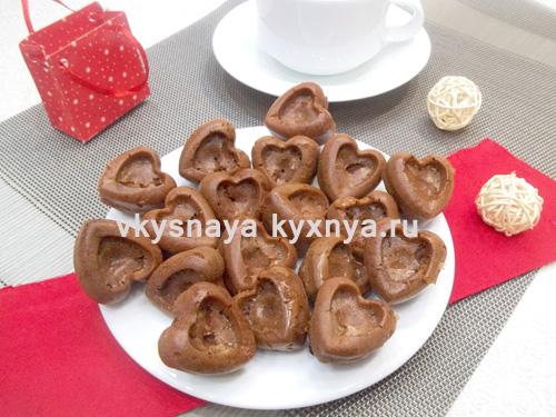 Кексы-сердечки на день всех влюбленных