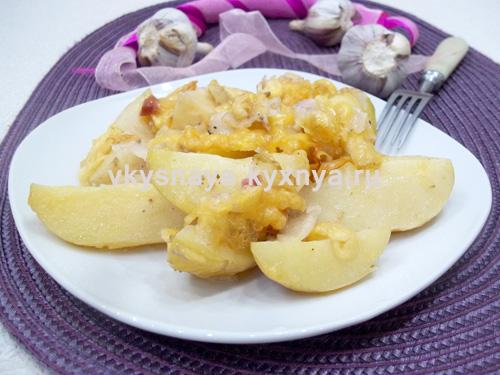 Картошка с беконом и сыром в духовке: рецепт с пошаговыми фото