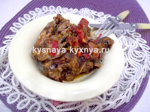 Чахохбили из курицы по грузински: рецепт с пошаговыми фото
