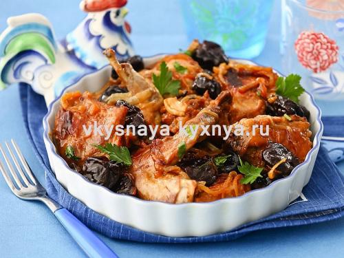 Кролик тушеный с черносливом: рецепт с фото