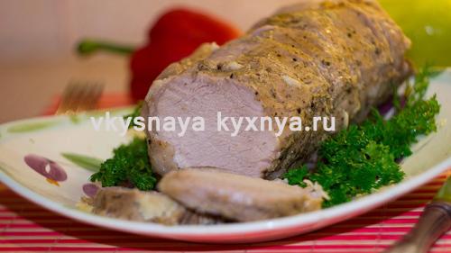 Свиной карбонат запеченный в духовке в рукаве