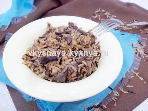 Жареный рис с грибами рецепт с пошаговыми фото