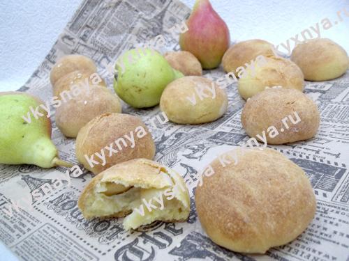 Булочки на кефире с грушами: рецепт без дрожжей