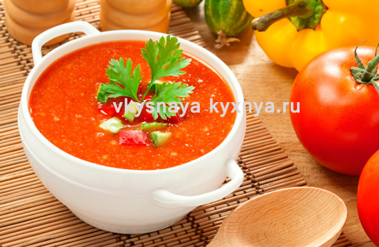 Суп с помидорами и болгарским перцем по-болгарски