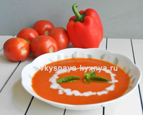Гаспачо: рецепт с томатным соком
