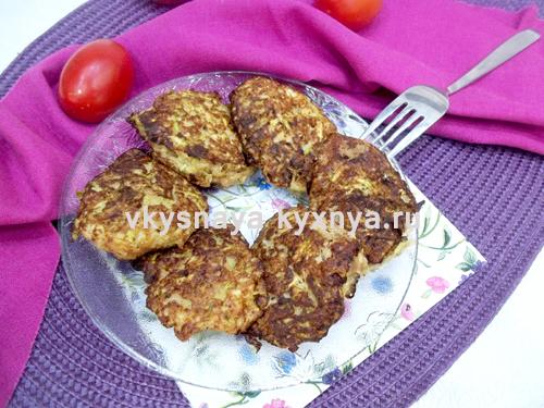 Оладьи из кабачков с фаршем: рецепт с фото пошагово