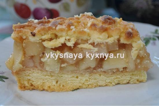 """Яблочный пирог """"Шарлотка по-польски"""""""