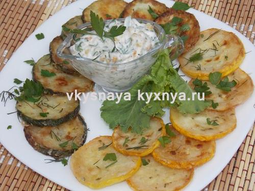 Жареные кабачки с чесноком: рецепт на сковороде