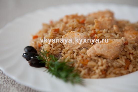 Куриный плов с куриной грудкой: рецепт с фото пошагово