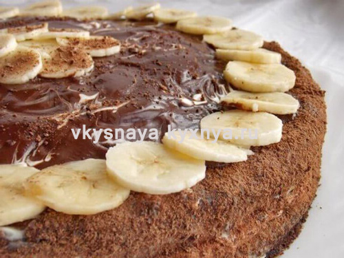 Шоколадно-банановый торт с шоколадным кремом