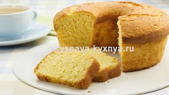Лимонный кекс с цедрой испеченный в духовке