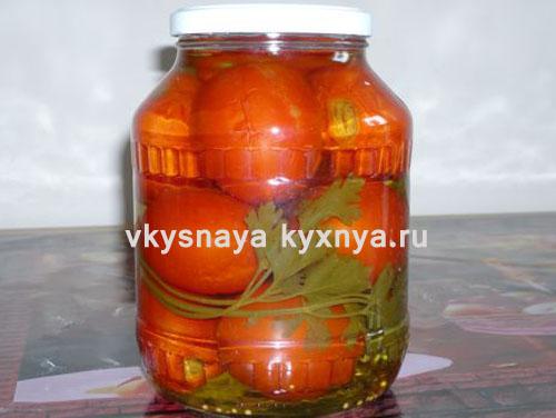 Маринованные помидоры на зиму: рецепт с семенами горчицы