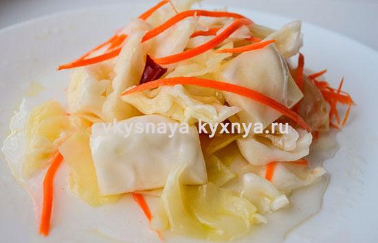 Острая маринованная капуста: рецепт быстрого приготовления