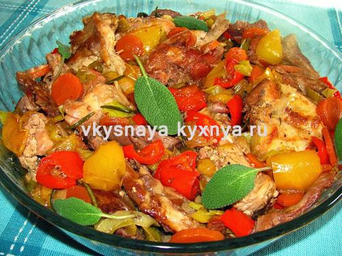 Рагу из кролика с картофелем и овощами