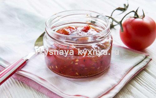 Томатное варенье: рецепт из красных помидоров на зиму