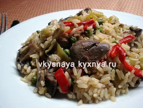 Как вкусно приготовить рис с куриной печенью