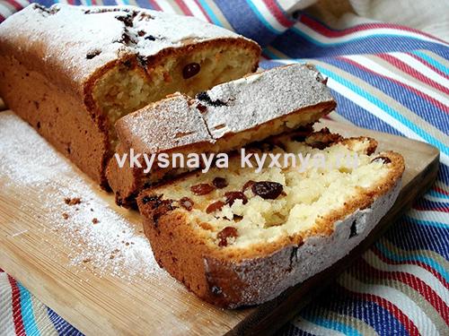 Кекс с изюмом: классический рецепт