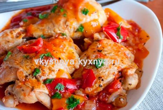 Чахохбили из курицы на сковороде