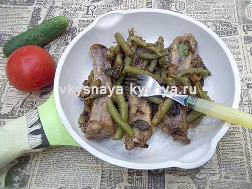 Жареные свиные ребрышки: рецепт на сковороде